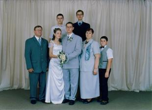 ... s manželovou rodinkou...