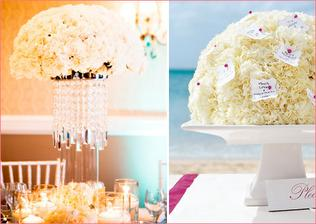 Chic carnations or for beach wedding..