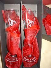 Svatební skleničky dle mého návrhu, sladěné k naší svatbě