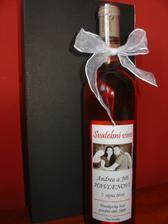 Svatební vínečko, také sladěné :-)