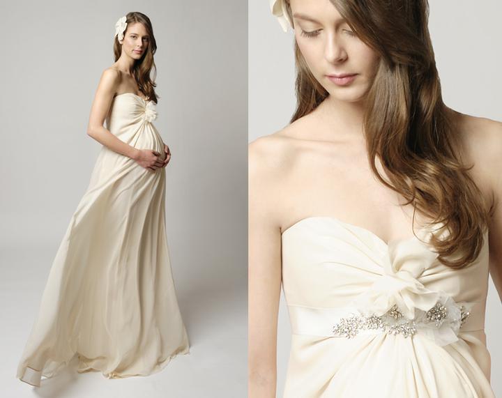 Těhotenské svatební šaty... - Obrázek č. 1