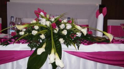 takato ikebana bude na hlavnom stole len z tulipánov