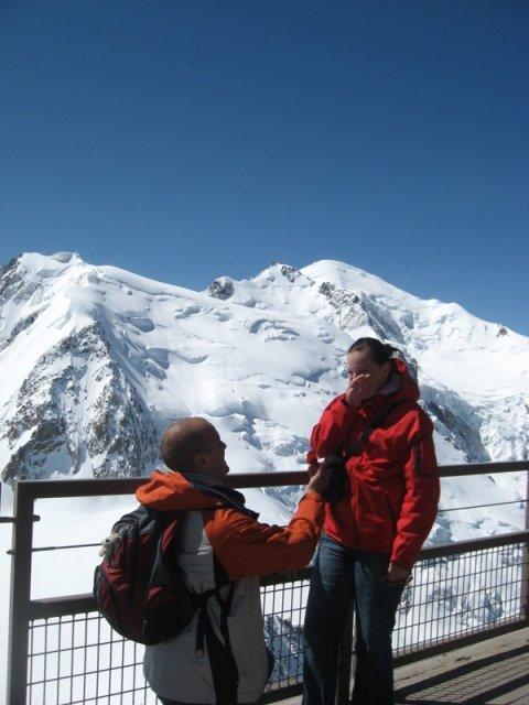 Zásnuby :) - Mt. Blanc