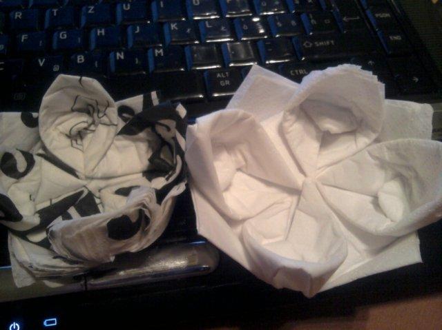 Už naše na svadbičku :) - trošku origami :)