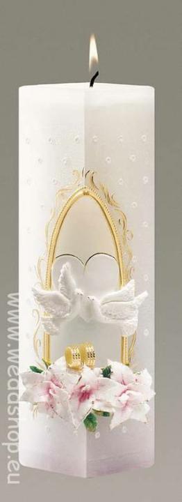 Naše vysnívané predstavy - takúto svadobnú sviečku možno...