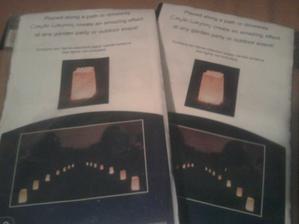 svietiace lucerny na romantickú výzdobu terasy :)