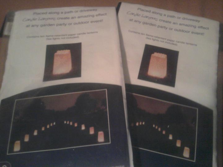 Už naše na svadbičku :) - svietiace lucerny na romantickú výzdobu terasy :)