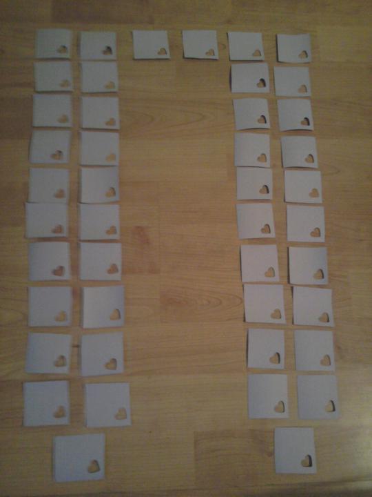 Už naše na svadbičku :) - začínam vyrábať zasadací poriadok :)