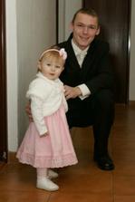 môj manžel s najmladšou družičkou Dorotkou