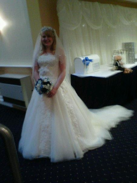 Melissa{{_AND_}}Gareth Dale - taken by my friend on her phone so quality a bit poor but shows dress off bootifully!!