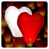 Lampión šťastia srdce,