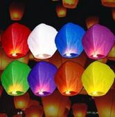 Lampión šťastia - 10 ks mix farieb,