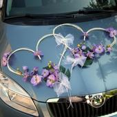 Dekorácia na auto srdcia - orchidea v 10 farbach,