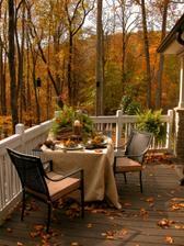 jesenná romantika na terase