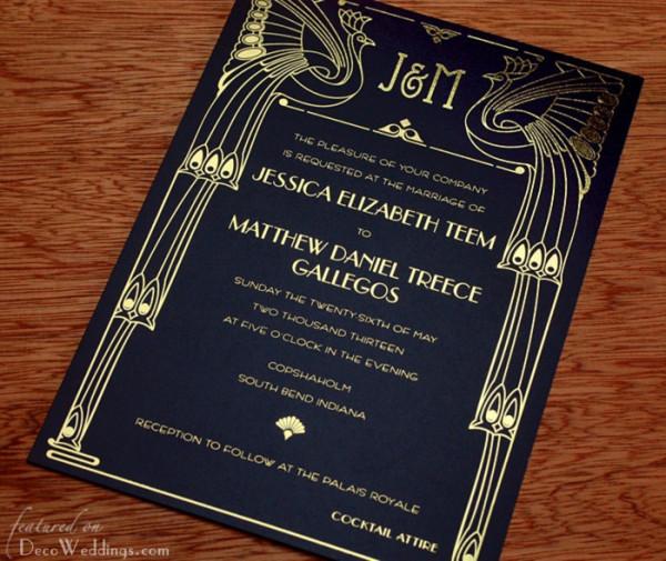 Art deco & black & gold & turquoise wedding - Obrázok č. 6