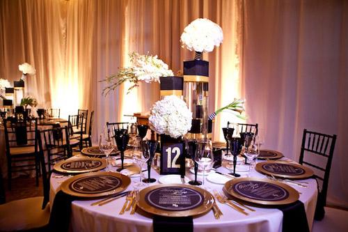 Art deco & black & gold & turquoise wedding - Obrázok č. 12