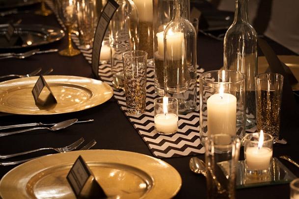 Art deco & black & gold & turquoise wedding - Obrázok č. 16