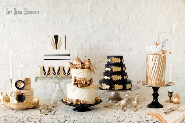 Art deco & black & gold & turquoise wedding - Obrázok č. 28