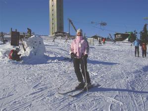 ...tak tady jsem na Klínovci.byla pěkná zima:-))