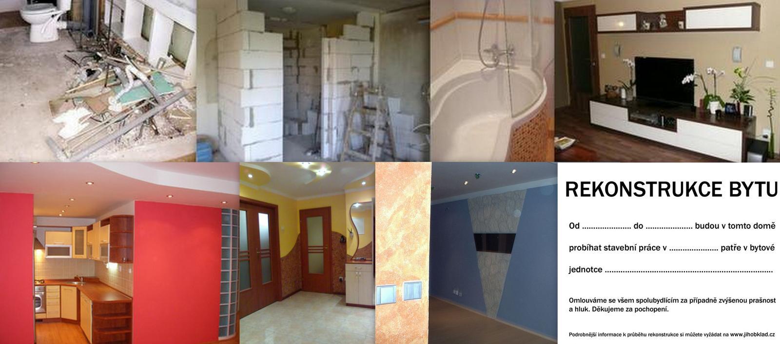 Rekonstrukce bytu od základu až po ukončení. - Fotografie skupiny