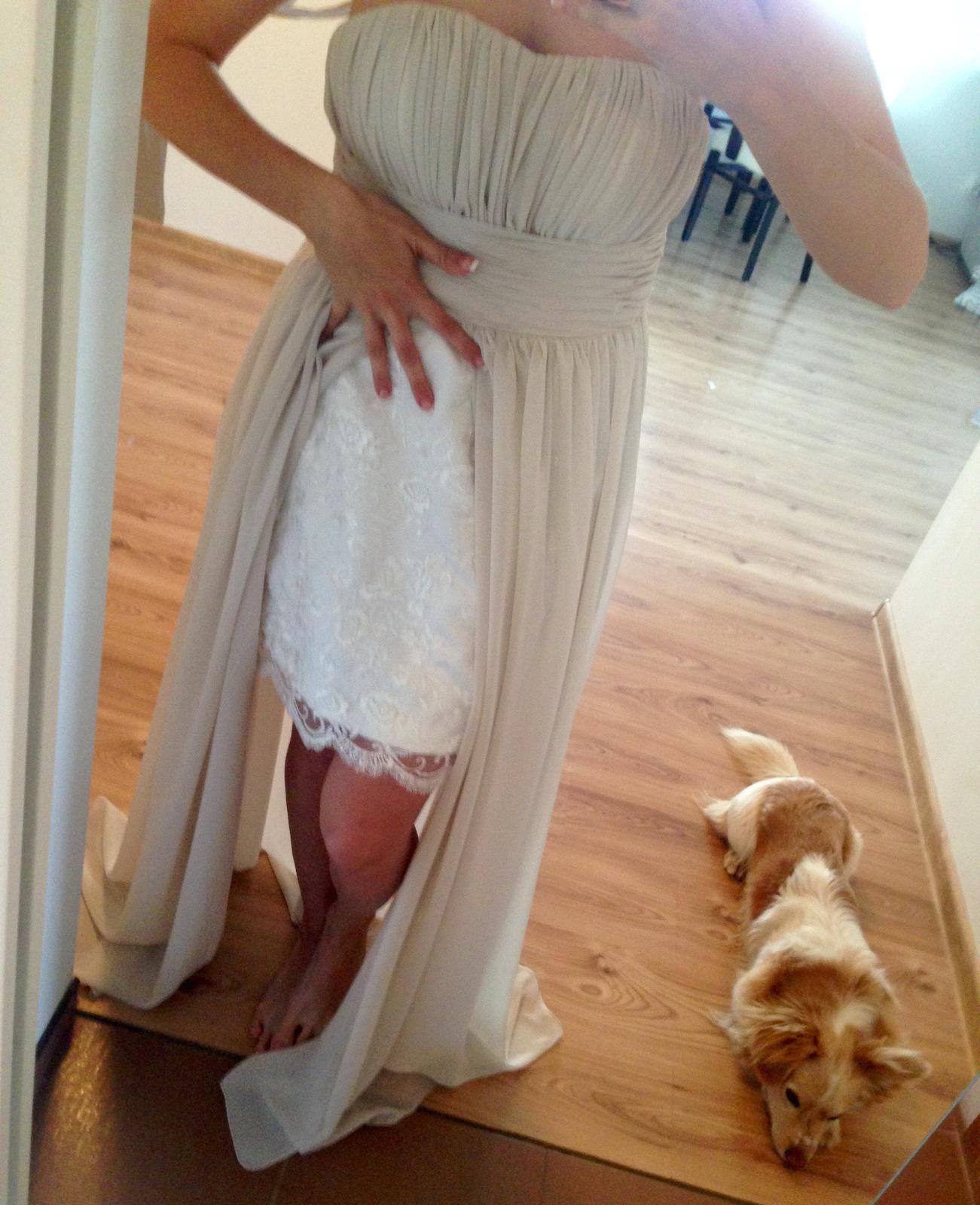 netradičné šaty s čipkou  - Obrázok č. 1