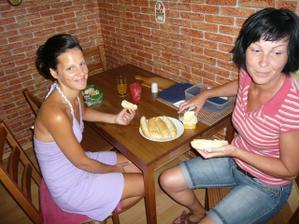 poslední snídaně s maminkou za svobodna
