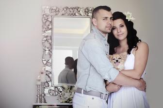 Jedná svadobná z nášho domčeka :)