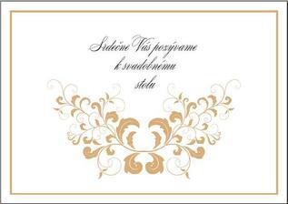 kartička k svadobnému stolu