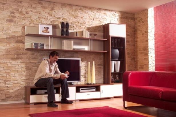 Kameň a tehla v interiéri - Obrázok č. 5