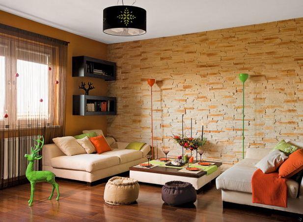 Kameň a tehla v interiéri - Obrázok č. 58