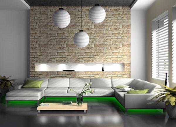 Kameň a tehla v interiéri - Obrázok č. 81