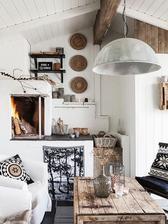 rustikálny dom vo Švédsku