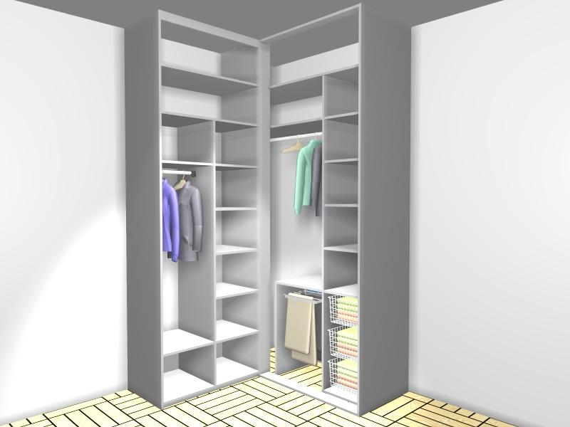 Rekonstrukce - do naší mini šatny půjde do jednoho rohu asi tato vestavěná skříň (dveře budou, jen nejsou na obrázku)