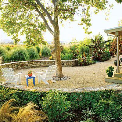 Zahrada bez klasického trávníku
