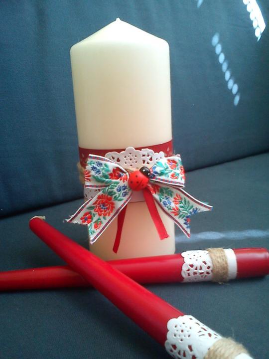 Ľudový motív :-) - na obrad sviečok