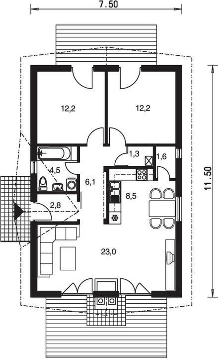 Malometrážne rodinné domy - Obrázok č. 18