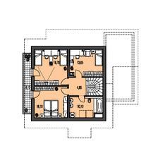 podrovie je takto,len 7,5x10,5m a spalna je vymenena s deckou a nie su tam balkony,lebo je tam strecha,okna su z predu a zo zadu