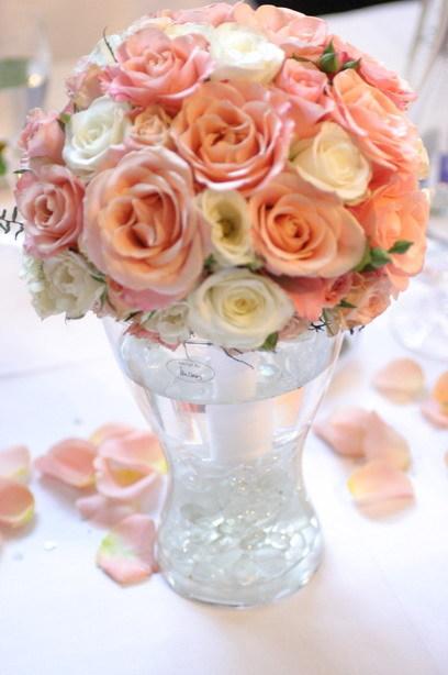 Honey a palino - takáto svadobná kytička z ruží