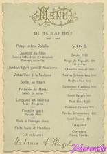 svatební menu z r.1921, takhle bude vypadat i naše