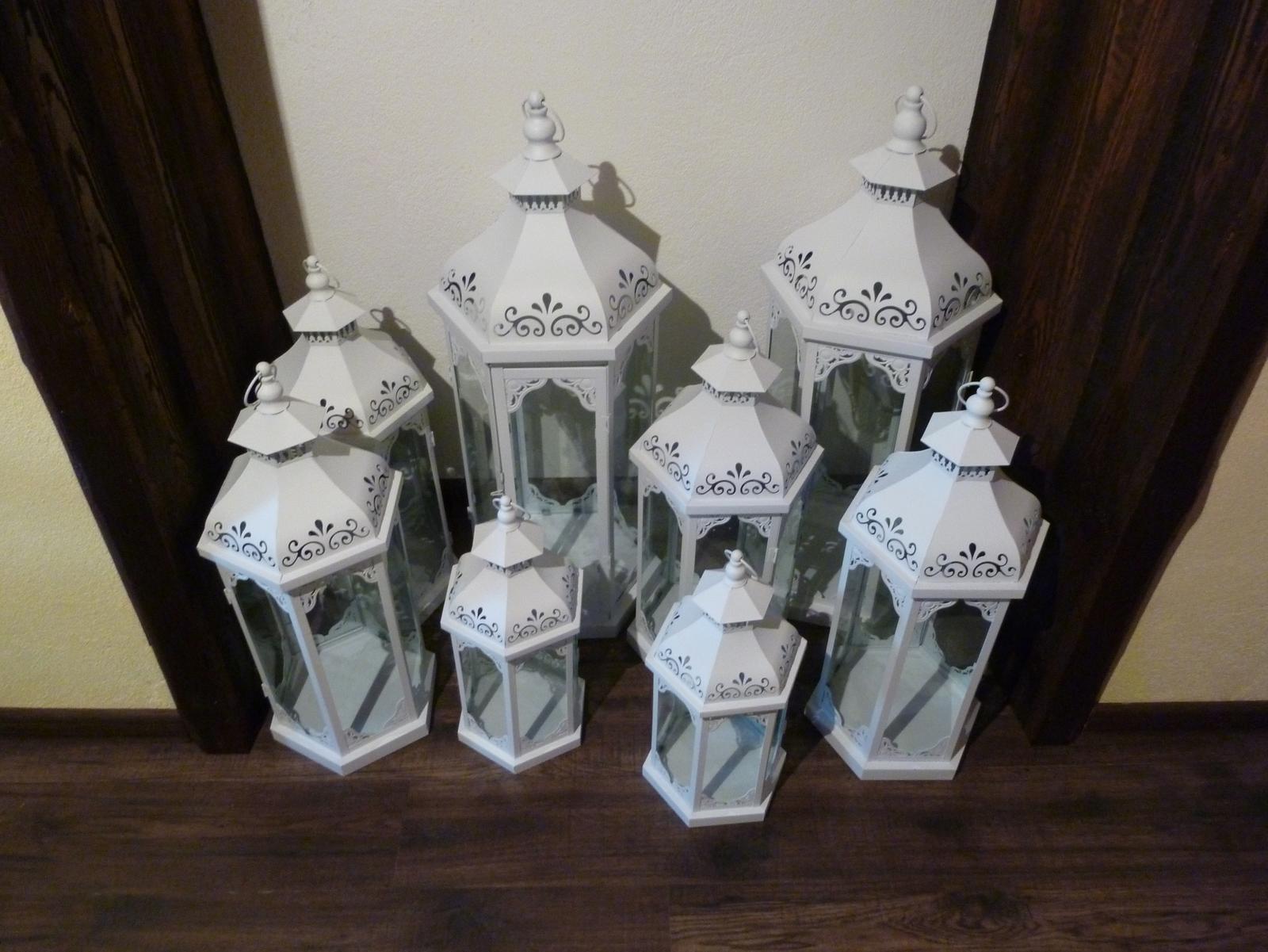 Biele svadobné lampáše na prenájom - Obrázok č. 2