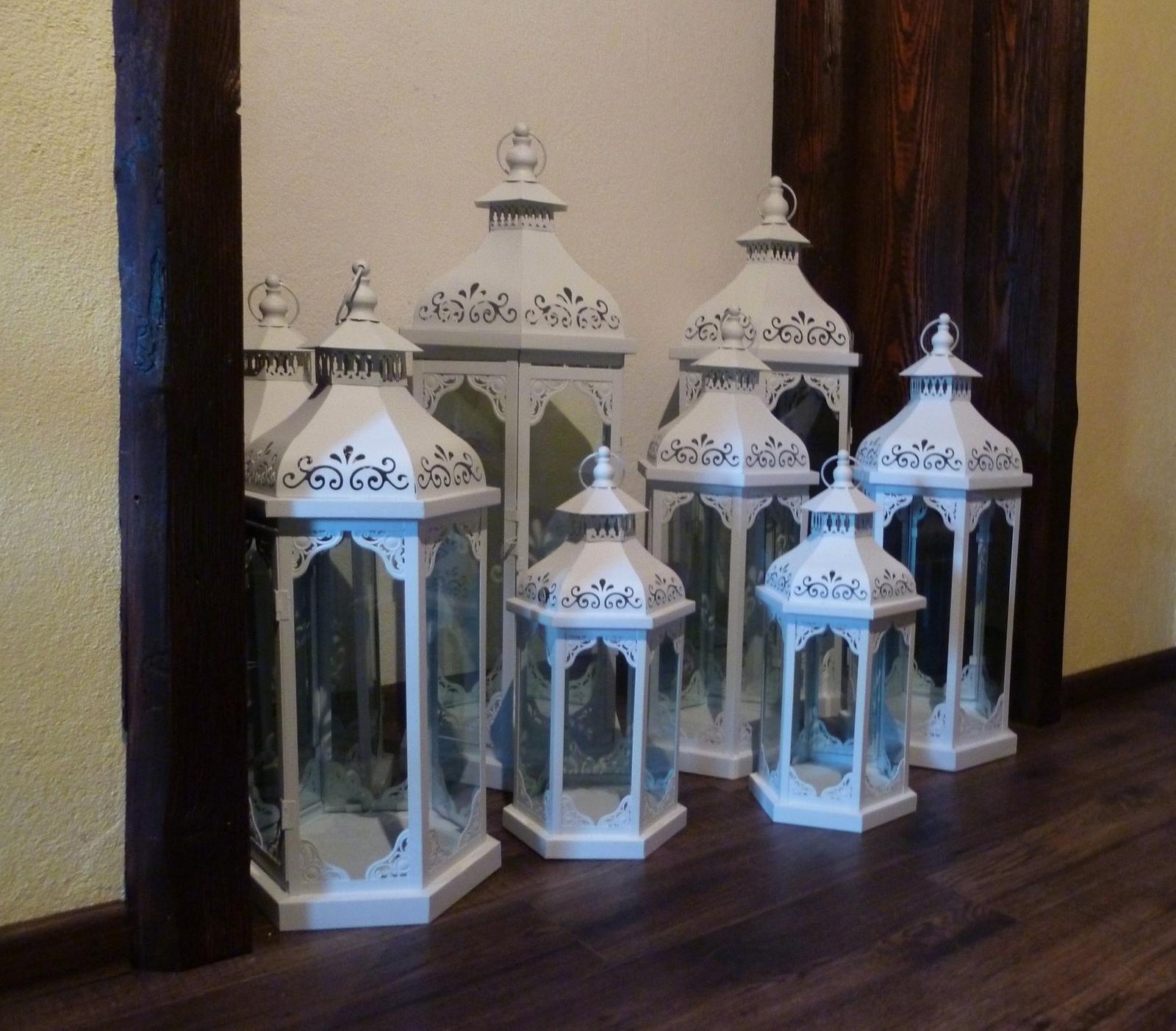 Biele svadobné lampáše na prenájom - Obrázok č. 1