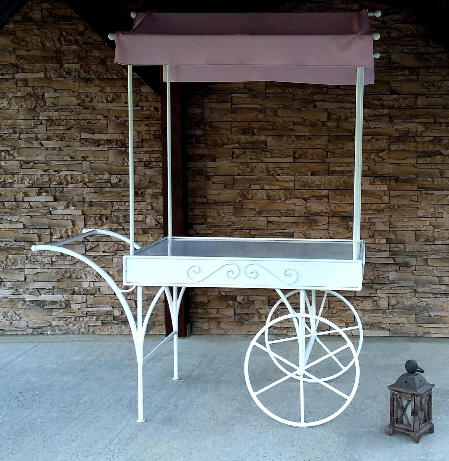 Svadobný vozík na cukrovinky/candy bar NA PRENÁJOM - Obrázok č. 1