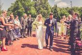 Svatební šaty z hedvábného saténu a šifonu, 38