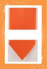 oranžová kravata pro ženicha :-)