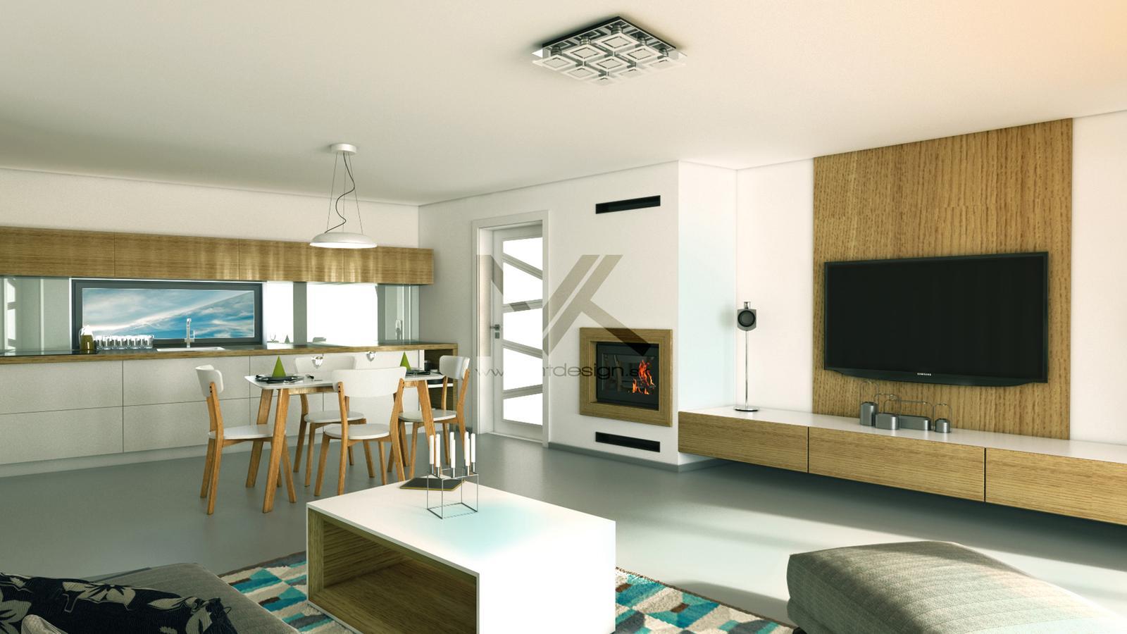 Vizualizácia moderného interiéru v RD - Obrázok č. 1