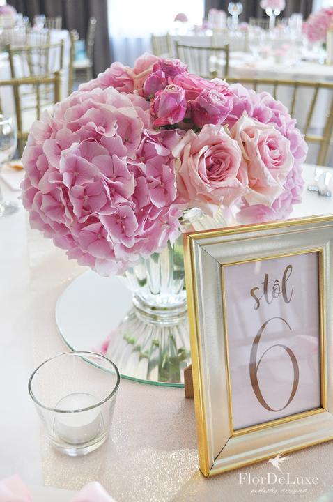 Naša ružovo-zlatá svadobná výzdoba od FlorDeLuxe - Obrázok č. 4