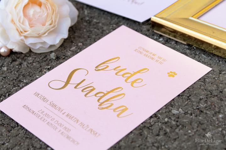 Naša ružovo-zlatá svadobná výzdoba od FlorDeLuxe - Obrázok č. 34