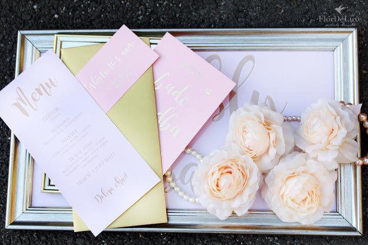 Naša ružovo-zlatá svadobná výzdoba od FlorDeLuxe - Obrázok č. 39