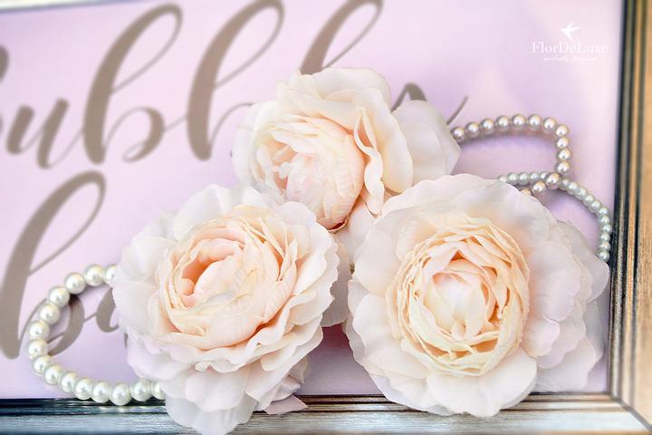 Naša ružovo-zlatá svadobná výzdoba od FlorDeLuxe - Obrázok č. 40
