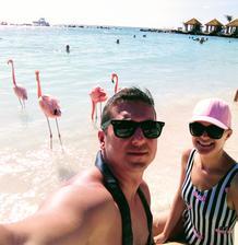 na svadobnej ceste sme boli na ostrove Aruba :)